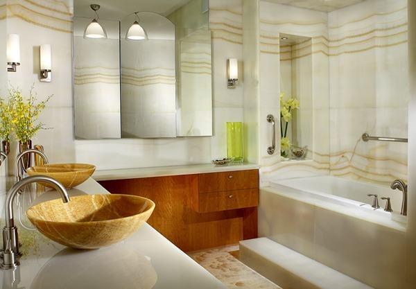 Modern bathroom decor for Bathroom decor 2012