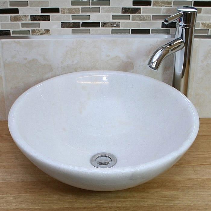 white basin 700 x 700
