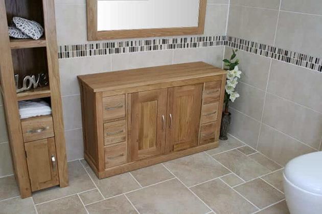 Handmade oak bathroom storage units made to last