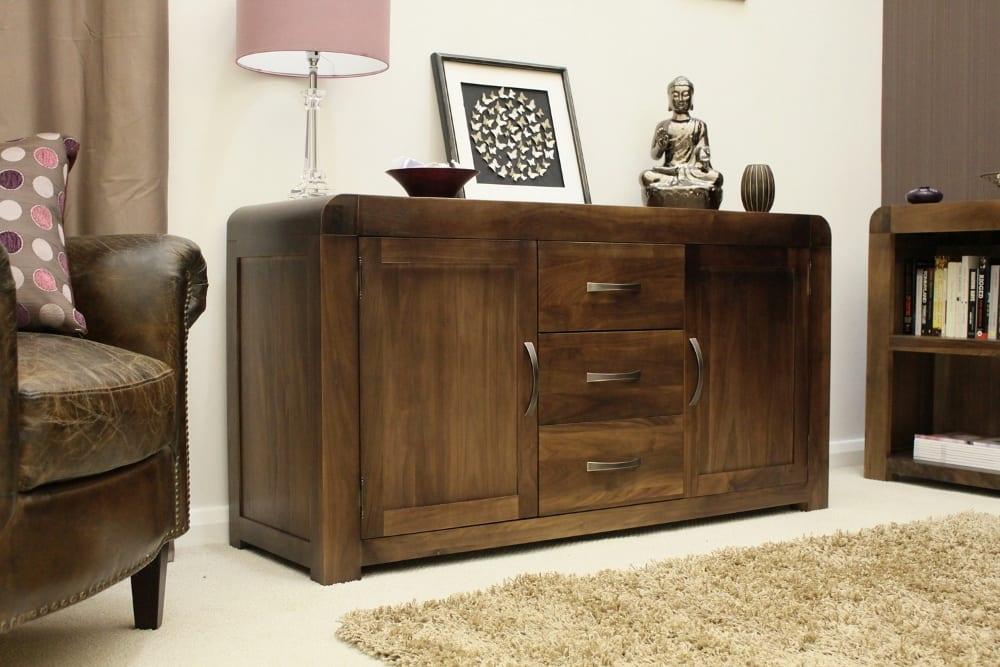 shiro solid walnut furniture dining room large sideboard. Black Bedroom Furniture Sets. Home Design Ideas