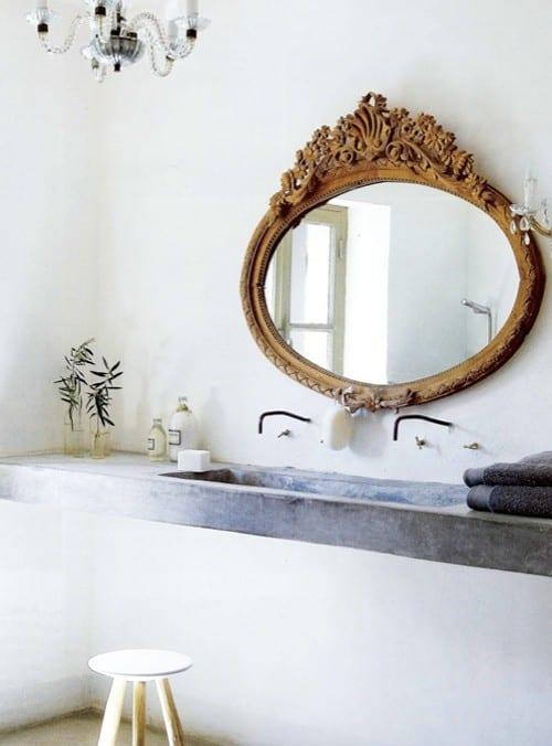 Mirror mirror for Gold bathroom mirror
