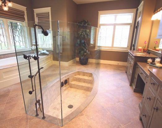 An inspired design for Sunken bathtub