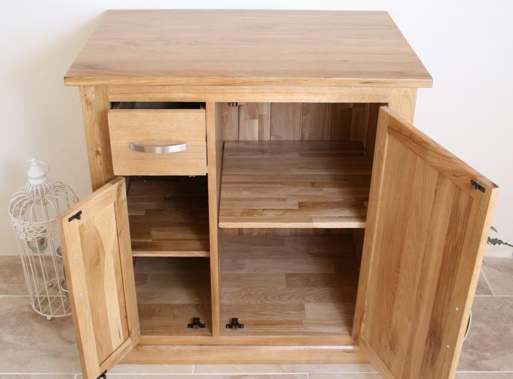 Milano Tall Bathroom Cabinet Mirrored Door Cupboard Storage Shelf Shelving Unit: Oak Bathroom Storage Unit 503