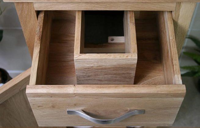 Oak Vanity Unit Drawers