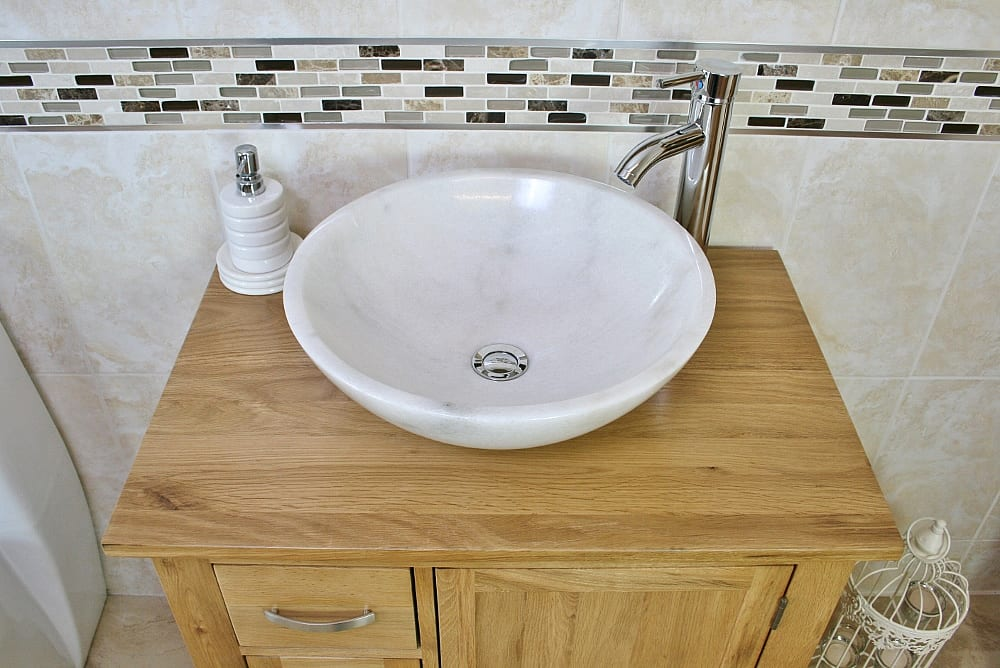 White Marble Bathroom Basin
