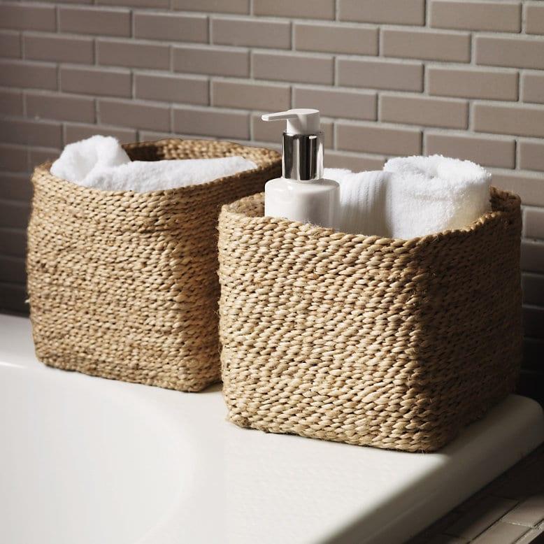 Super storage for Basket bathroom accessories