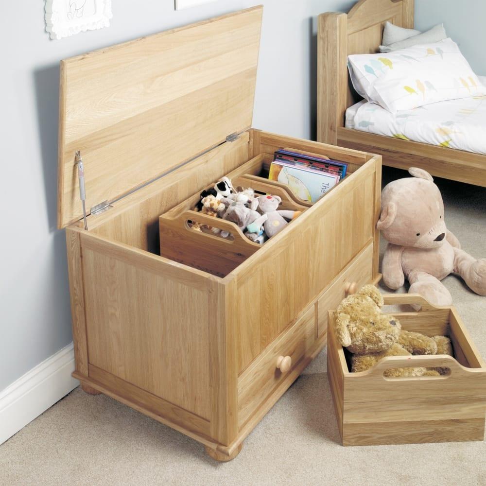 Oak Toy Storage Box