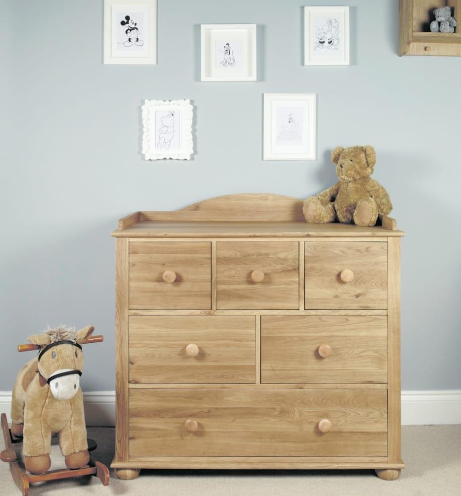 Oak Baby Changer & Storage Cabinet