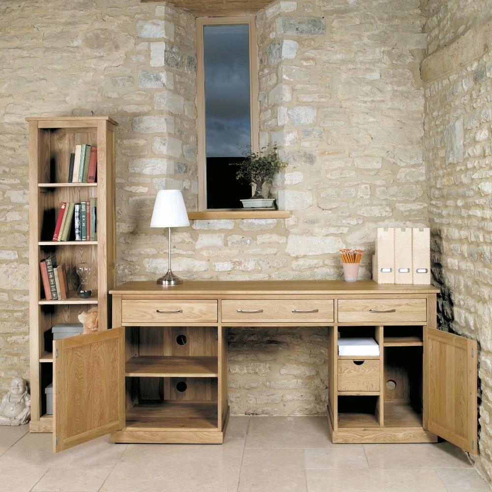 Oak Hidden Home Office Workstation